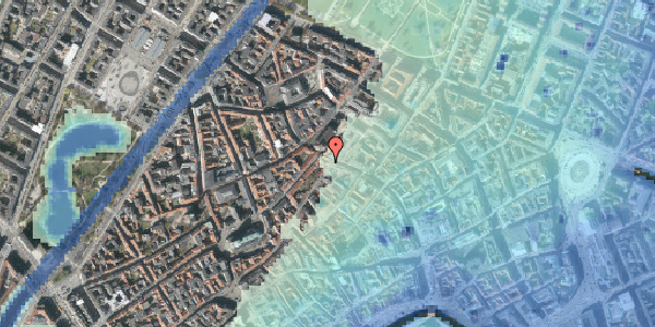 Stomflod og havvand på Skindergade 2, 3. th, 1159 København K