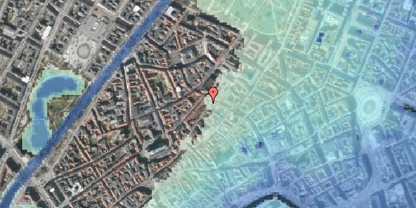 Stomflod og havvand på Skindergade 4, kl. , 1159 København K