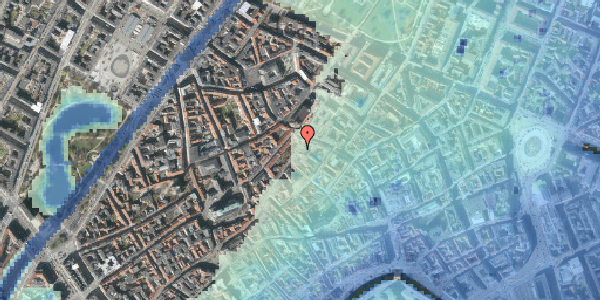Stomflod og havvand på Skindergade 5, 2. , 1159 København K