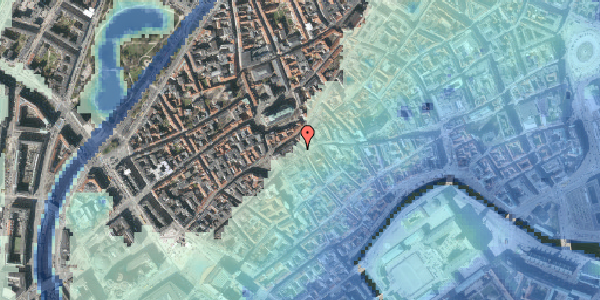 Stomflod og havvand på Skoubogade 1, 4. tv, 1158 København K
