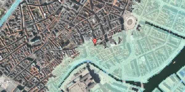 Stomflod og havvand på Store Kirkestræde 1, 1. tv, 1073 København K