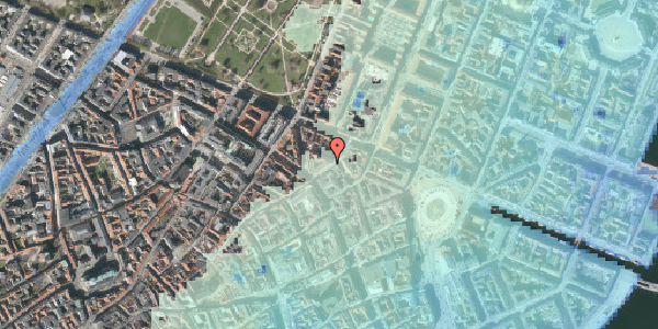 Stomflod og havvand på Store Regnegade 5, 3. tv, 1110 København K