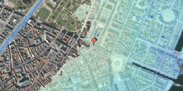 Stomflod og havvand på Store Regnegade 19A, 1. mf, 1110 København K