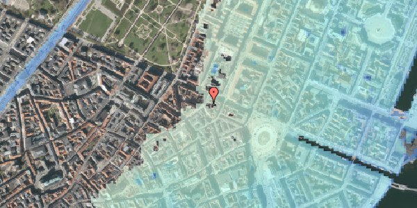 Stomflod og havvand på Store Regnegade 26A, 3. th, 1110 København K