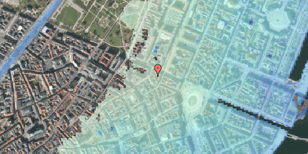 Stomflod og havvand på Store Regnegade 26C, 2. tv, 1110 København K