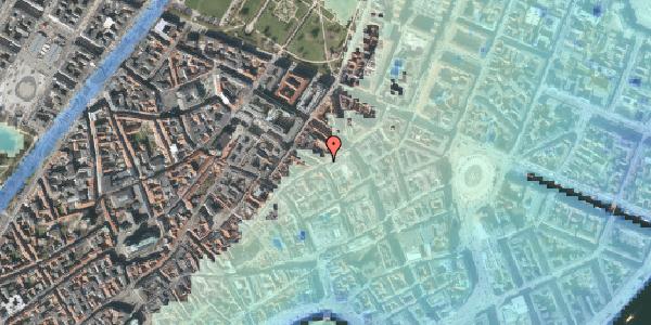 Stomflod og havvand på Sværtegade 1, 1118 København K