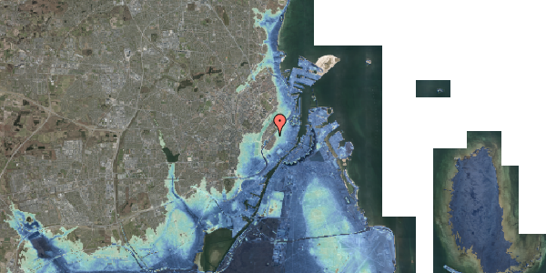 Stomflod og havvand på Tornebuskegade 9, st. tv, 1131 København K