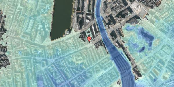 Stomflod og havvand på Trommesalen 1, 3. 6, 1614 København V