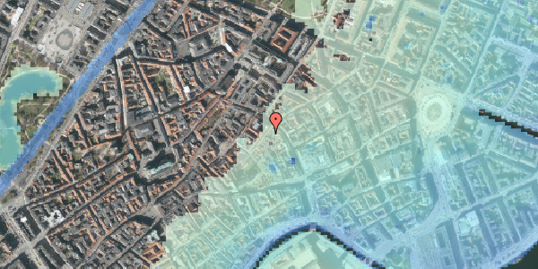 Stomflod og havvand på Valkendorfsgade 5, 1. , 1151 København K