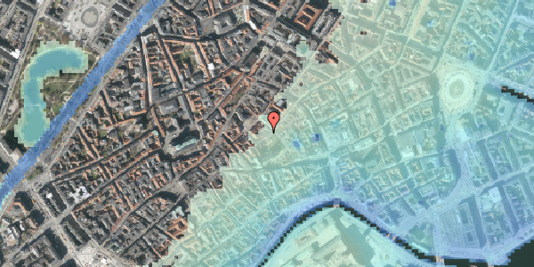 Stomflod og havvand på Valkendorfsgade 16, 3. , 1151 København K