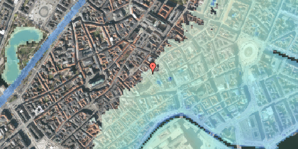 Stomflod og havvand på Valkendorfsgade 19, st. tv, 1151 København K