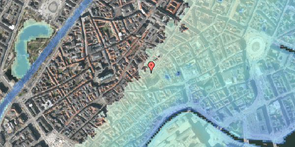 Stomflod og havvand på Valkendorfsgade 20, kl. , 1151 København K