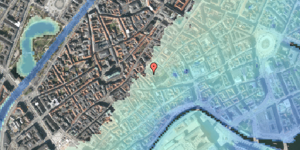 Stomflod og havvand på Valkendorfsgade 30, kl. , 1151 København K