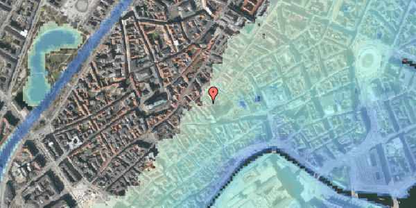 Stomflod og havvand på Valkendorfsgade 30, 4. , 1151 København K
