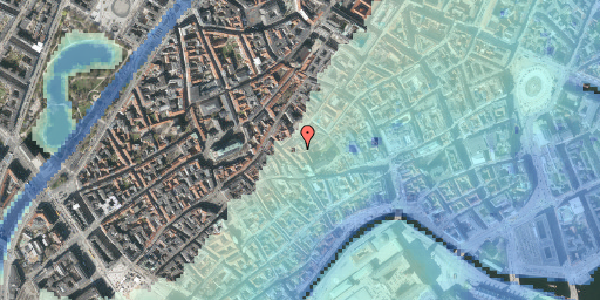 Stomflod og havvand på Valkendorfsgade 32, 2. , 1151 København K
