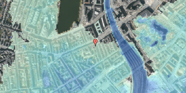 Stomflod og havvand på Vesterbrogade 15A, 5. th, 1620 København V