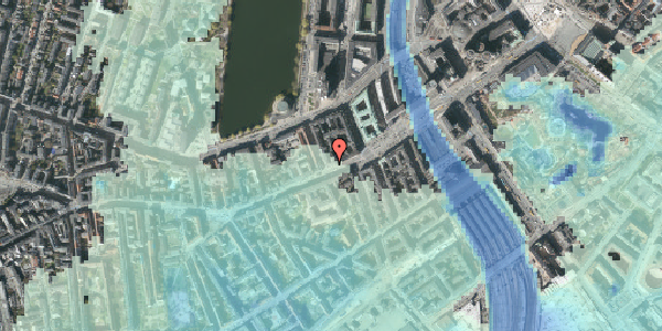 Stomflod og havvand på Vesterbrogade 16, kl. , 1620 København V