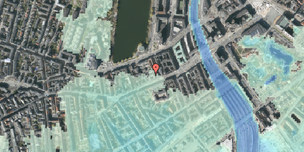 Stomflod og havvand på Vesterbrogade 20A, 3. th, 1620 København V