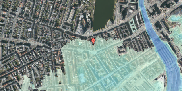 Stomflod og havvand på Vesterbrogade 44A, 3. , 1620 København V
