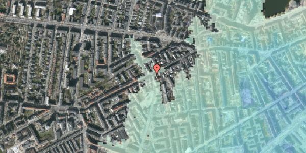 Stomflod og havvand på Vesterbrogade 101, kl. mf, 1620 København V