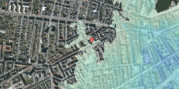 Stomflod og havvand på Vesterbrogade 106B, kl. tv, 1620 København V
