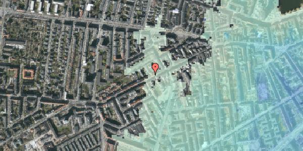 Stomflod og havvand på Vesterbrogade 114, kl. 1, 1620 København V