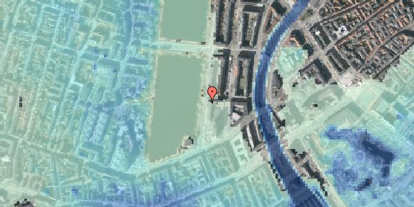Stomflod og havvand på Vester Søgade 10, 1601 København V