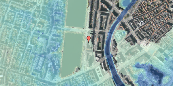 Stomflod og havvand på Vester Søgade 18, 2. tv, 1601 København V