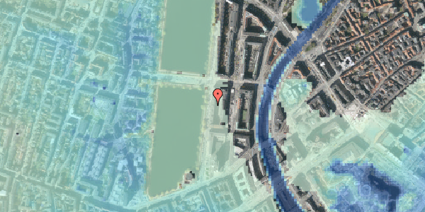 Stomflod og havvand på Vester Søgade 20, 4. tv, 1601 København V