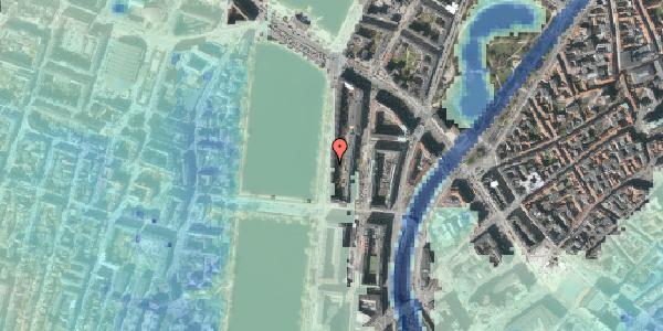 Stomflod og havvand på Vester Søgade 52, 1. tv, 1601 København V