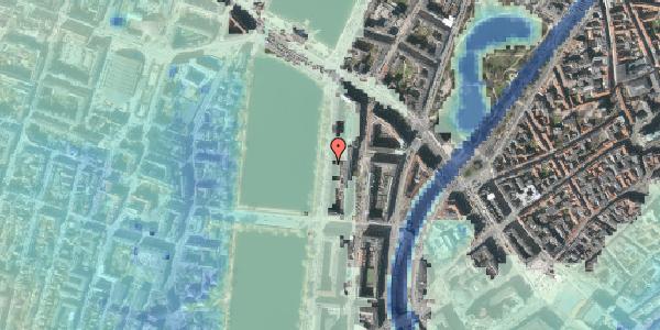Stomflod og havvand på Vester Søgade 56, 2. tv, 1601 København V