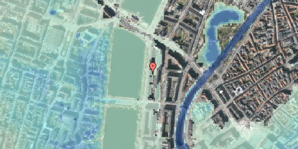 Stomflod og havvand på Vester Søgade 58, 3. tv, 1601 København V