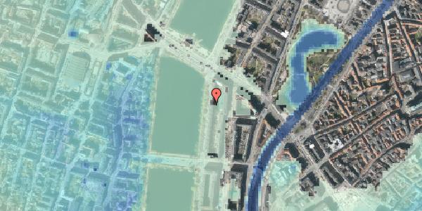 Stomflod og havvand på Vester Søgade 66, 3. tv, 1601 København V