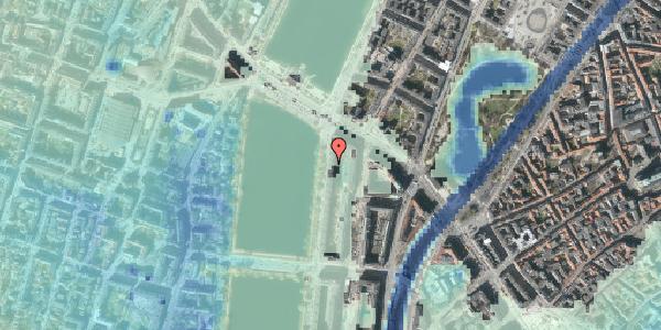 Stomflod og havvand på Vester Søgade 70, 5. tv, 1601 København V