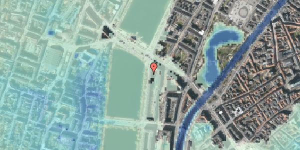 Stomflod og havvand på Vester Søgade 72, 2. tv, 1601 København V