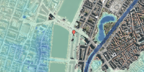 Stomflod og havvand på Vester Søgade 74, st. th, 1601 København V