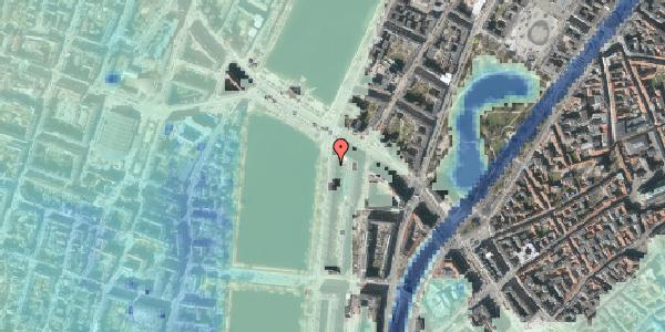 Stomflod og havvand på Vester Søgade 74, 2. tv, 1601 København V
