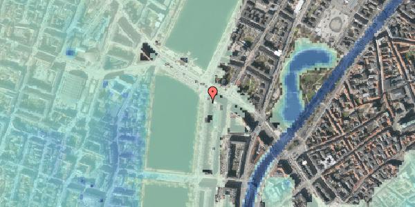 Stomflod og havvand på Vester Søgade 76, 4. tv, 1601 København V
