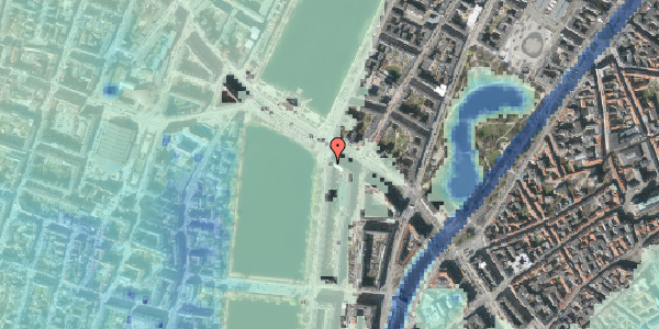 Stomflod og havvand på Vester Søgade 78, 2. 2, 1601 København V