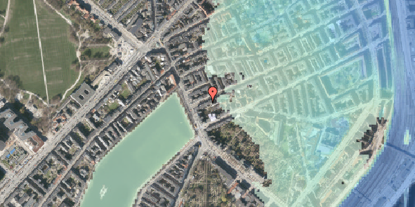 Stomflod og havvand på Willemoesgade 6, kl. 1, 2100 København Ø