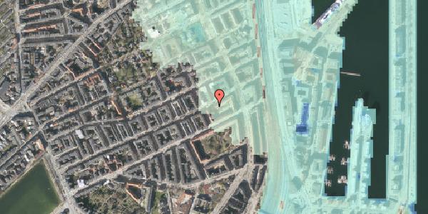 Stomflod og havvand på Willemoesgade 68A, 2100 København Ø