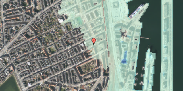 Stomflod og havvand på Willemoesgade 89, kl. , 2100 København Ø