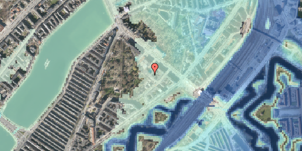 Stomflod og havvand på Visbygade 14, 1. tv, 2100 København Ø