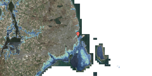 Stomflod og havvand på Vognmandsmarken 28, 1. tv, 2100 København Ø