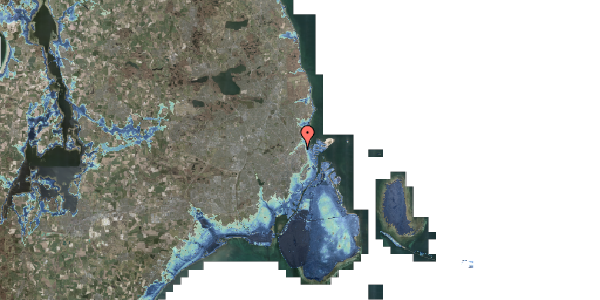 Stomflod og havvand på Vognmandsmarken 34, 2. th, 2100 København Ø