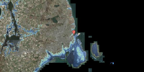 Stomflod og havvand på Vognmandsmarken 64, 1. tv, 2100 København Ø