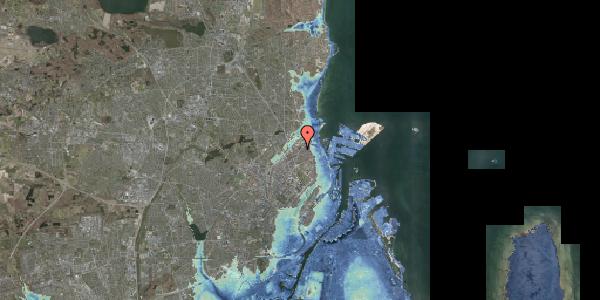 Stomflod og havvand på Vognmandsmarken 78, 1. tv, 2100 København Ø