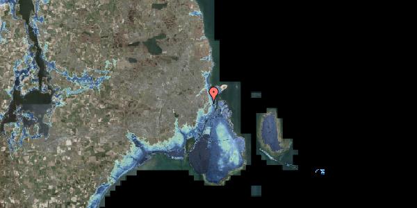 Stomflod og havvand på Voldmestergade 11, 2100 København Ø