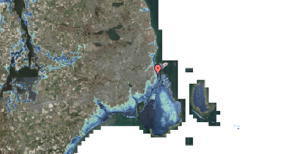 Stomflod og havvand på Voldmestergade 17, 2100 København Ø