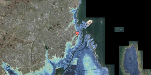 Stomflod og havvand på Voldmestergade 23, 2100 København Ø